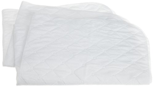 Carters 2 Pack Keep Me Dry Quilted Crib Pad, White