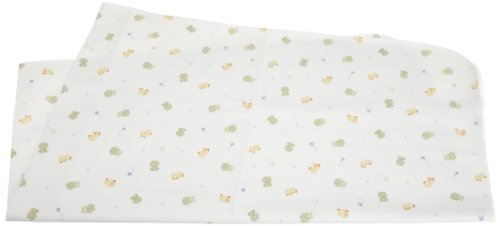 Carters Keep Me Dry Waterproof Flannel Crib Pad , Frog/White