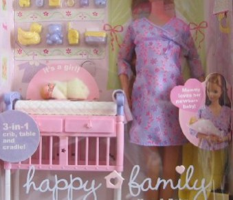 Barbie Happy Family Midge & Baby Doll Set – Pregnant Mom & Baby Doll (2002)